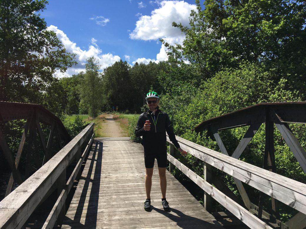 Gammal järnvägsbro längs Pyttebaneleden
